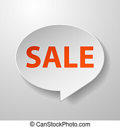 Sale 3d Speech Bubble on White background
