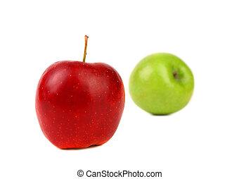 Red and green apples - Red and green apples isolated on a...