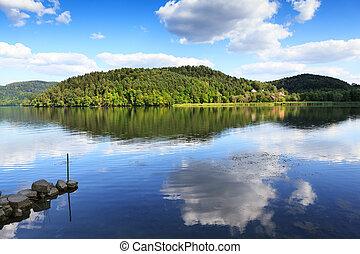 reflexión, lago