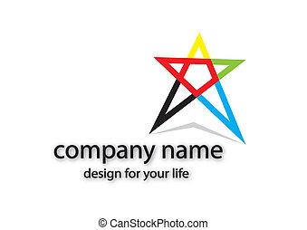 logo -  icon, icons, color, logo star