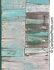 Wooden panel door of scrap wood - Wood panel door with...