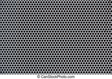 Background of gray metal with holes - Background of gray...