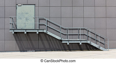Fire Stairwell on the side of a building