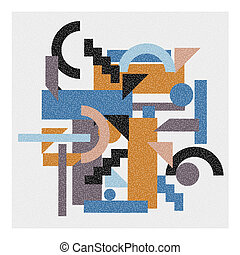 Abstract geometric background in cubism style. Vector EPS 10