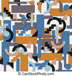 Geometric background in cubism style Vector EPS 10