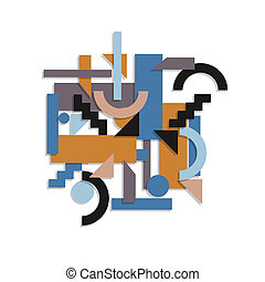 Paper geometric background in cubism style. Vector EPS 10