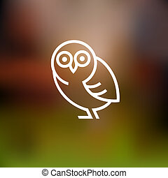 Stylized owl Vector background