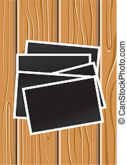 wood grain - vector wood background with blank photos