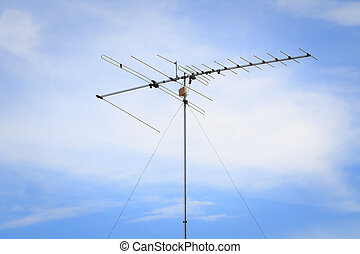 Communicate - Communications antenna on the building