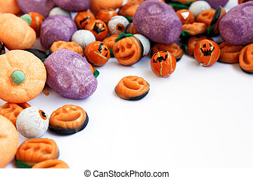 Trick or Treat - Halloween Candy - Colorful group of...