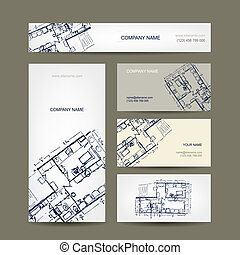 Sketch of apartment Business cards for your design