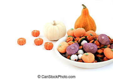 Trick or Treat - Halloween Candy - Dish full of halloween...