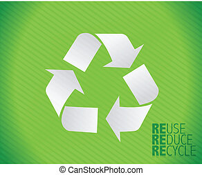 recycle illustration design