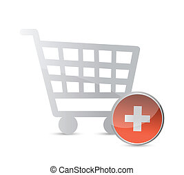 shopping cart. online shopping concept.