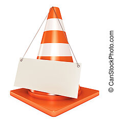 Under construction frame. Traffic cones. Blank sheet. Icon...