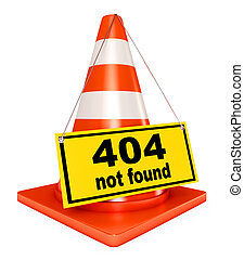 404 error - Concept 404 error on white background. Page not...