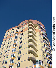 apartments - A modern apartments building viewed from an...