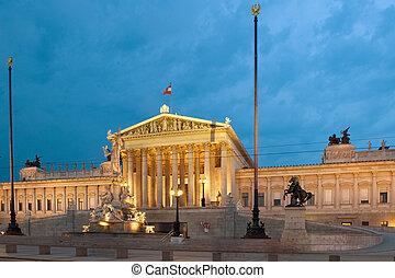 Parlament Vienna, Austria - Parliament Vienna, Austria on a...