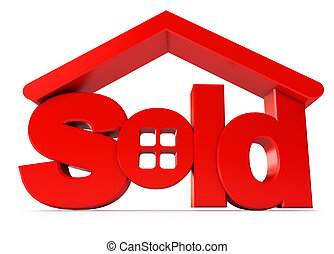 Housing for sale Icon isolated on white background 3d render...
