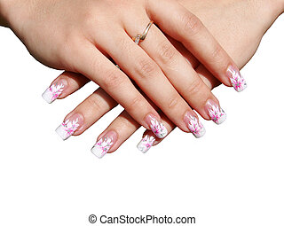 manicure - Beautiful manicure on female hands...
