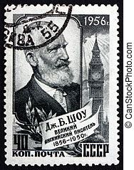 Postage stamp Russia 1956 George Bernard Shaw, Playwright -...