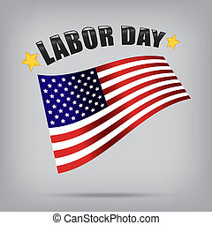 labor day american vector