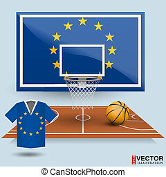 Vector Illustration Basketball Background - Basketball...