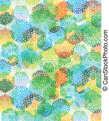 multi-colored snowflakes, abstract background, vector...