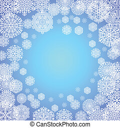 frost on the window, vector