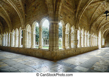 Cathedral and cloister of Our Lady of the Assumption in Santander, Spain