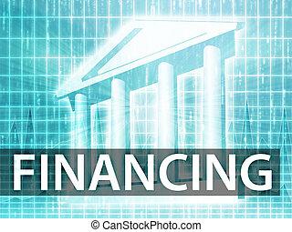 finanziamento, illustrazione