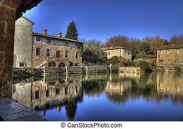 Bagno Vignoni village of Tuscany (Italy) - Bagno Vignoni...