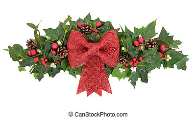 Decorative Christmas Spray - Christmas floral decoration...