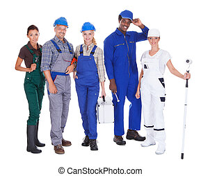 People Representing Diverse Professions