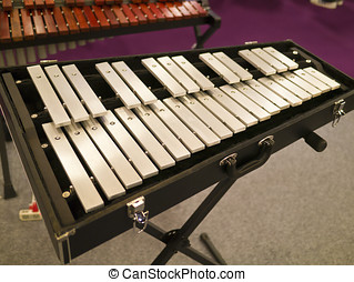 wooden xylophone in exhibition