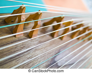 zither,Gu Zheng - Strings and bridges of Chinese ancient...
