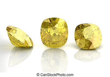 yellow sapphire (high resolution 3D image)