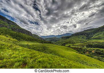 Landscape of Giants Castle Game Reserve