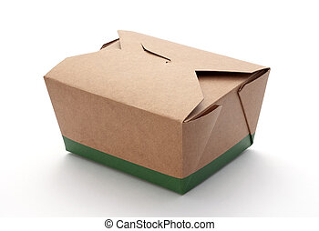 Take-Out Box isolated on a white background