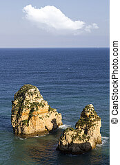 coastline of Lagos in the Algarve, Portugal