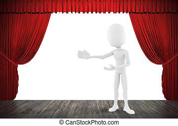 ステージ, 3D, 人