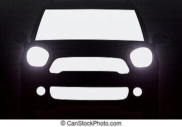 Shadow of car