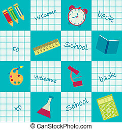 seamless background back to school - vector seamless...