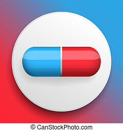 Vector pills medical button symbol