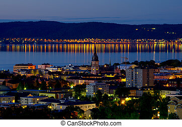 Jonkoping at night Sweden - Night view of Jonkoping city...