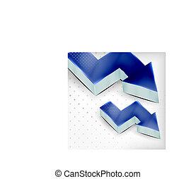 Vector blue 3d arrow background