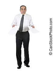 Confused businessman - Business man in suit with confused...