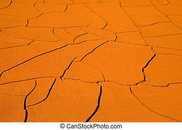 Cracked clay background.