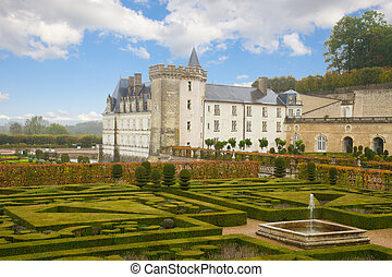 Villandry chateau in the Loire Valley, France - Villandry...