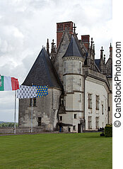 Amboise castle .Valley of the river Loire. France
